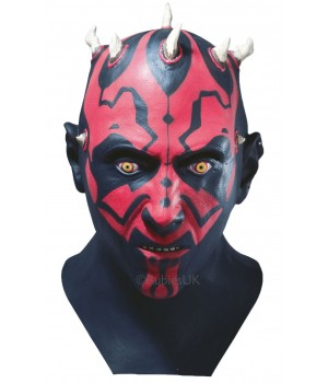DARTH MAUL LATEX PEŁNA MASKA MĘSKA STAR WARS