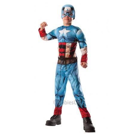 Marvel DC Comics HULK KAPITAN AMERICA DLX 2 W 1 DZIECIĘCY ALLEKOSTIUM