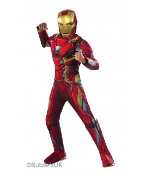 Marvel DC Comics IRON MAN AVENGER DLX DZIECIĘCY ALLEKOSTIUM