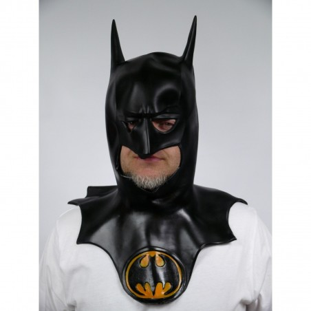BATMAN MASKA Z KOŁNIERZEM LATEX MĘSKA BATMAN